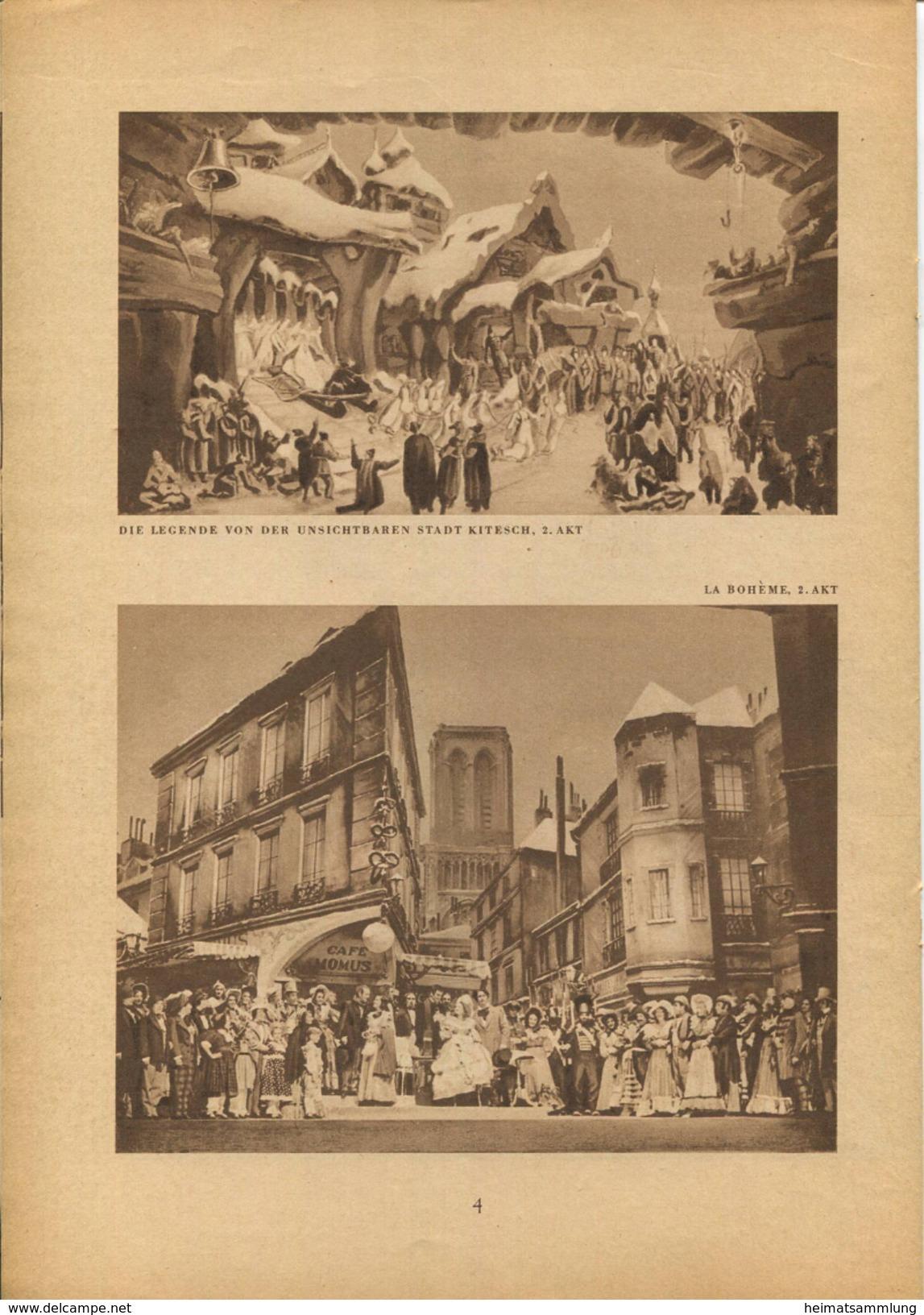 Staatstheater Berlin - Spielzeit 1937/38 - 14 Seiten Mit 13 Abbildungen - Theatre & Scripts