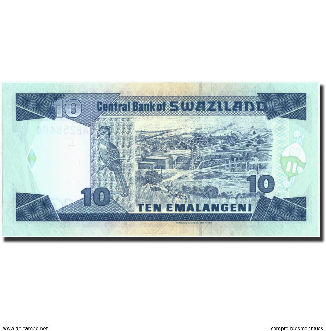 Swaziland, 10 Emalangeni, Undated 1995, KM:24a, Undated 1995, NEUF - Swaziland