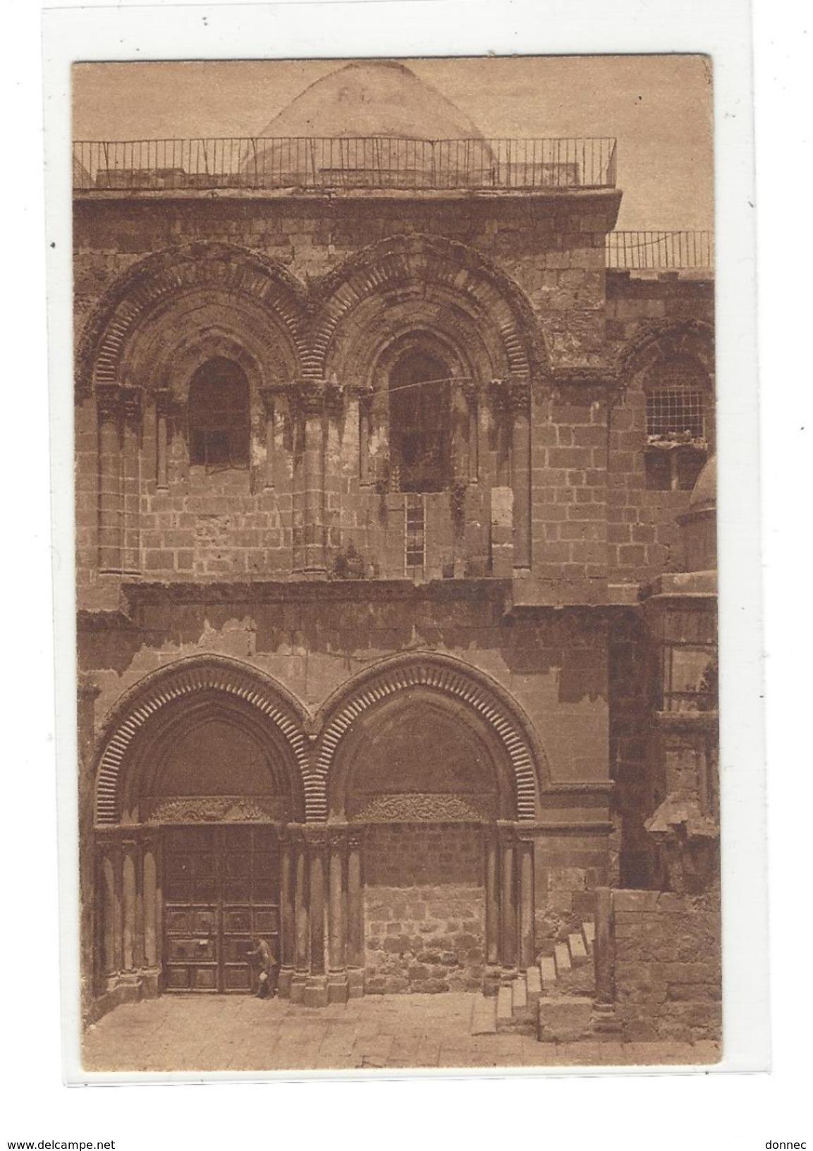 OBLITERATION Jérusalem 1951  Palestine Carte The Holy Sepulchre - Palestine