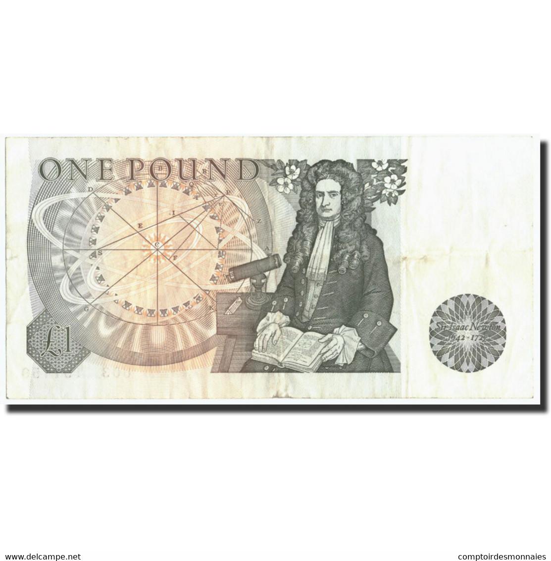 Grande-Bretagne, 1 Pound, Undated (1978-84), KM:377a, TTB - 1952-… : Elizabeth II