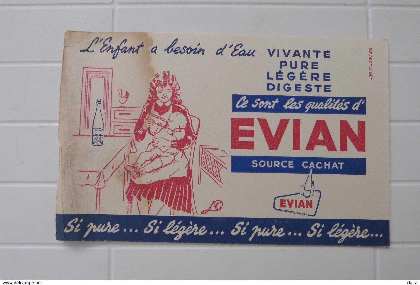 BUVARD EVIAN, SOURCE CACHAT - E