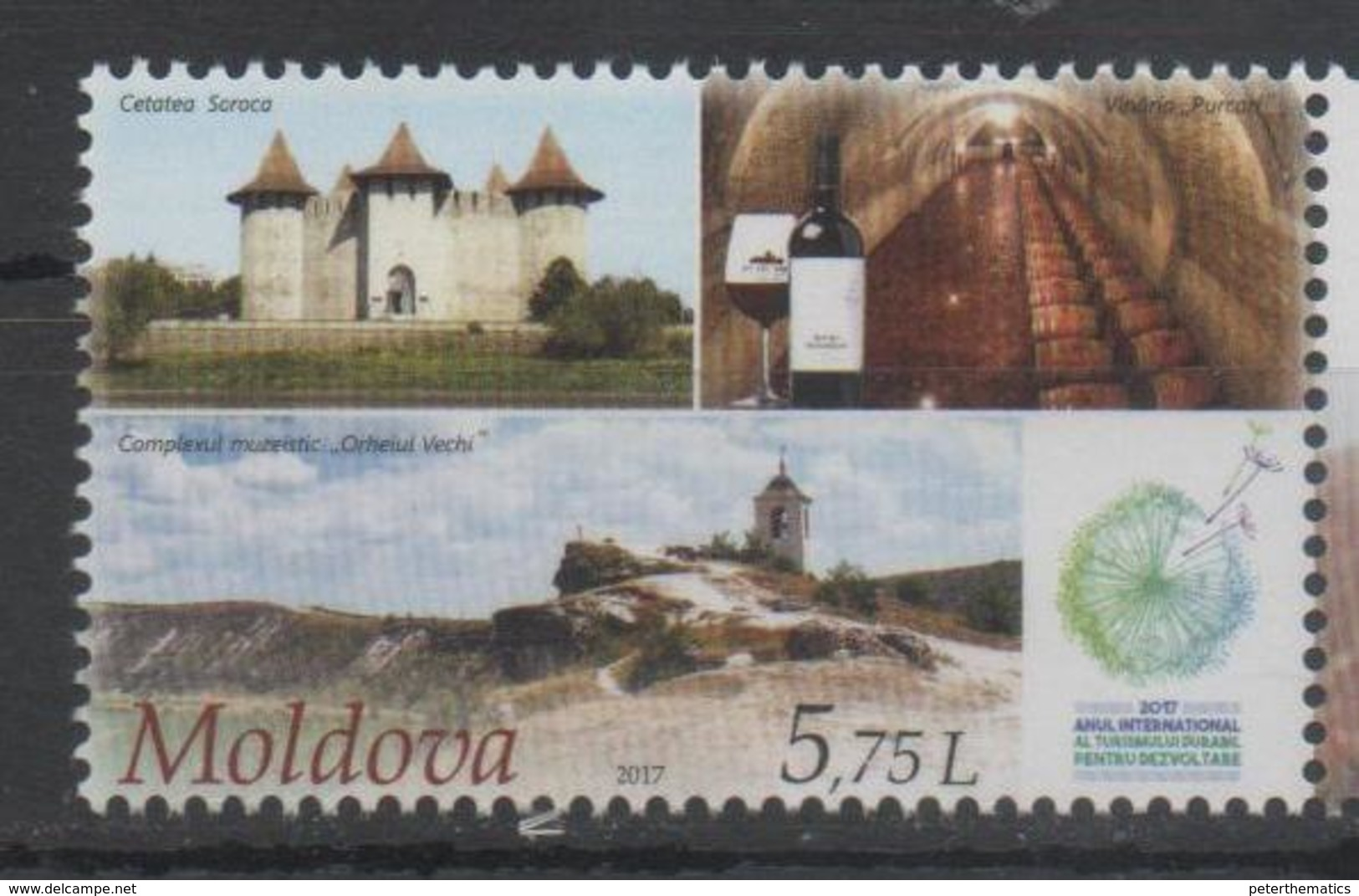MOLDOVA, 2017, SUSTAINABLE TOURISM, CASTLES, WINES, 1v - Holidays & Tourism
