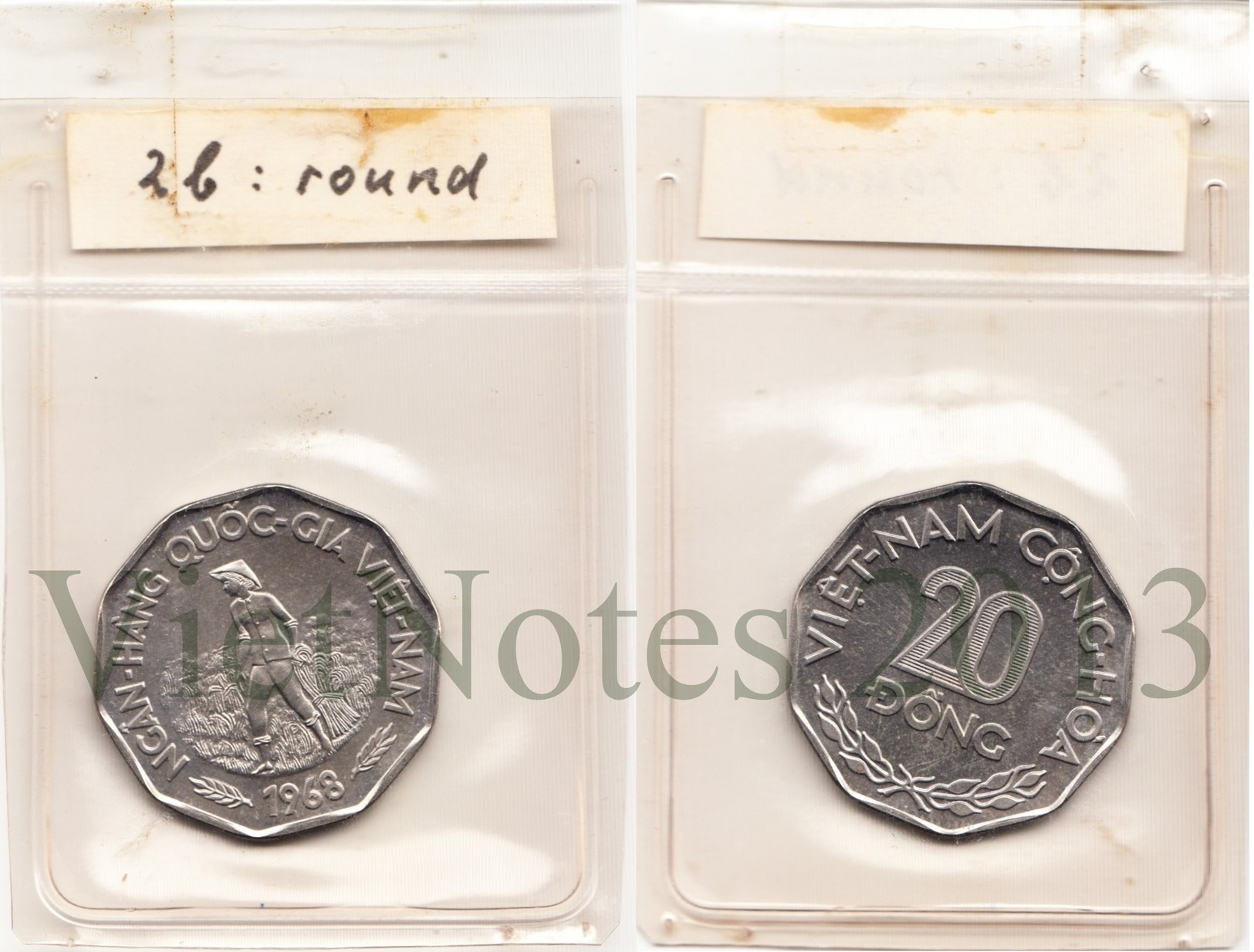 Vietnam South 20 Dong 1968 Set 4 Different Un-issued Extremely Rare Coins - Viêt-Nam