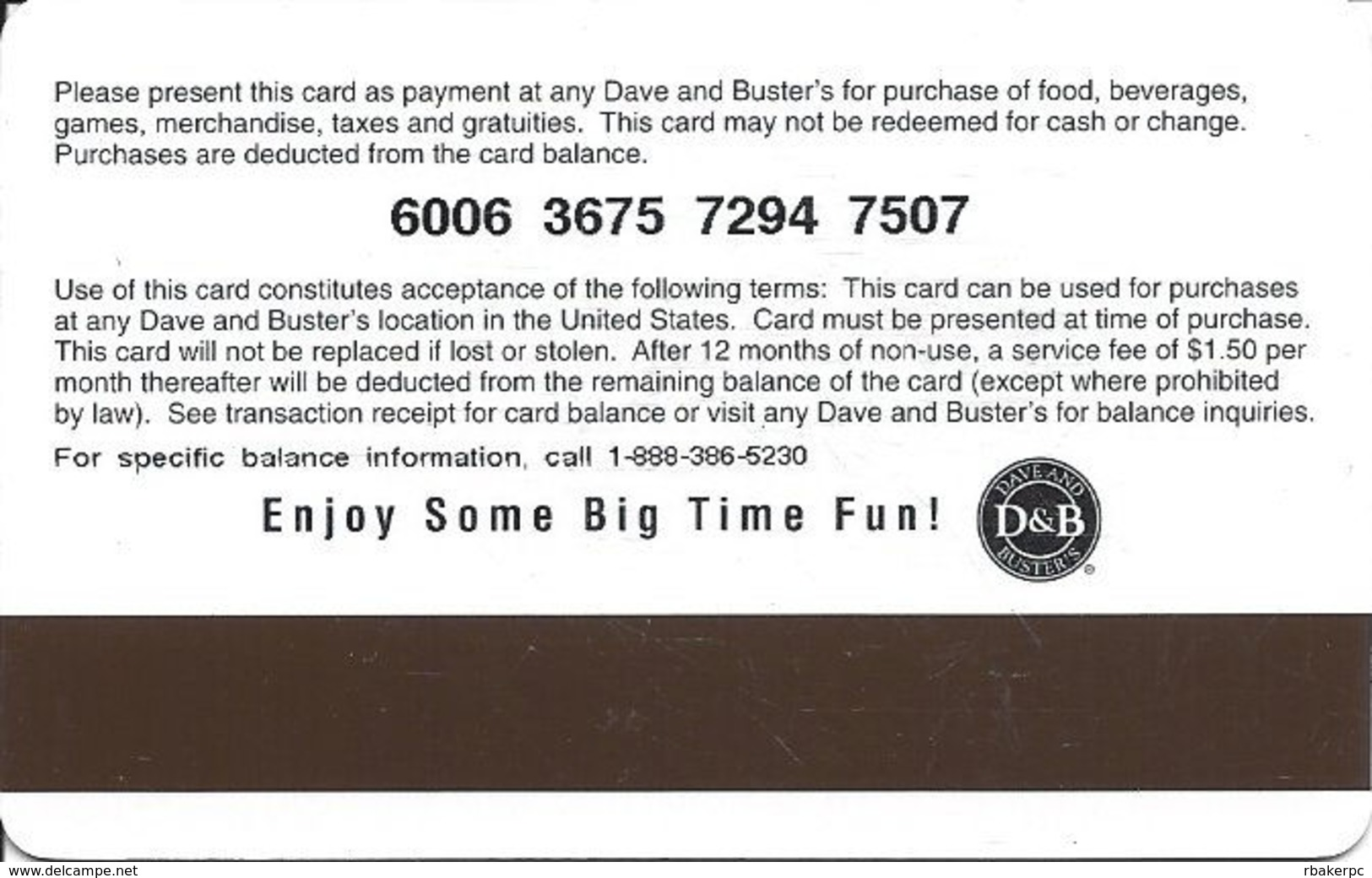 Dave And Brusters (D&B) Gift Card - D&B Bucks - Gift Cards