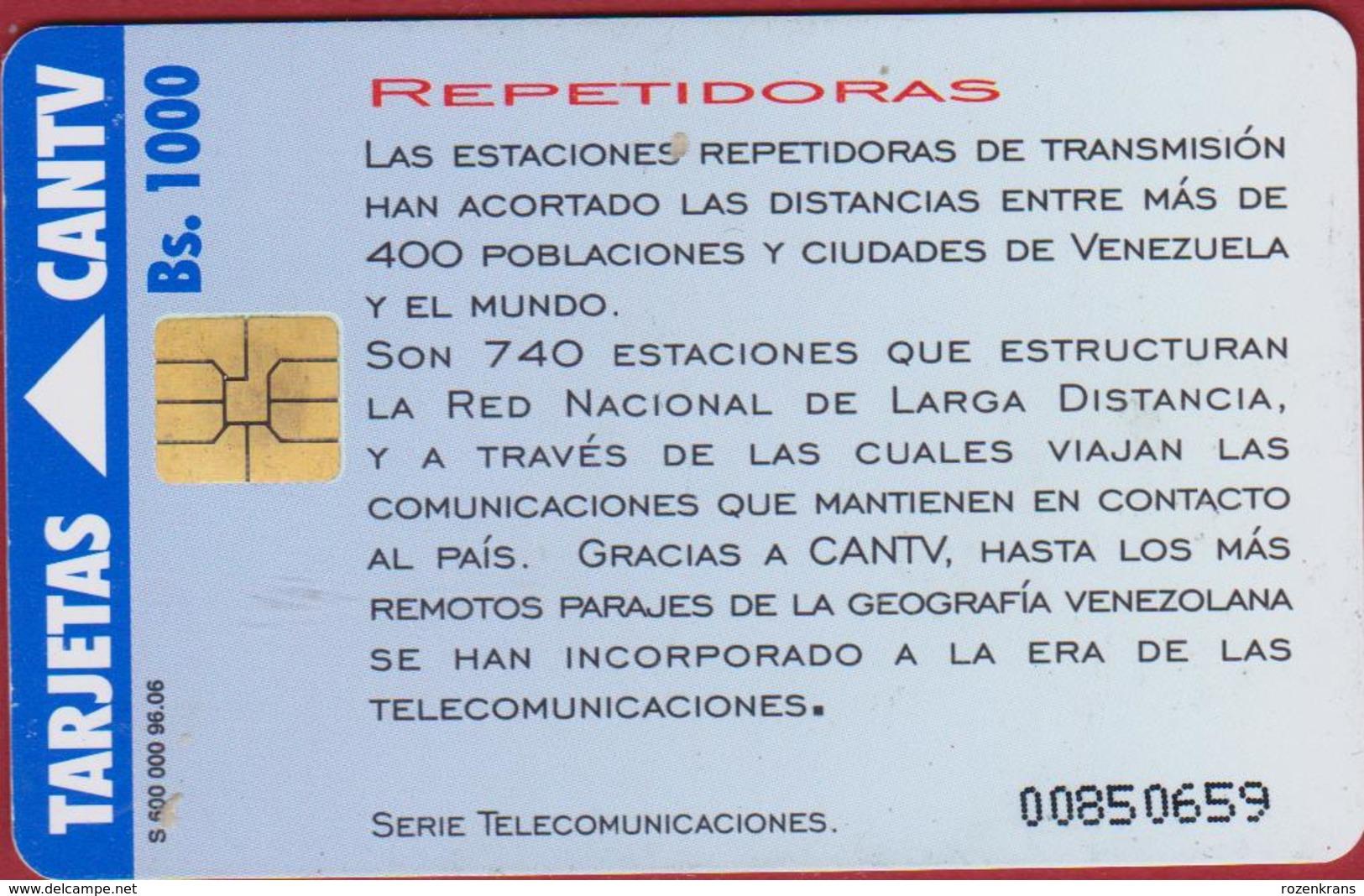 Venezuela REPETIDORAS Telecom CANTV  Telefoonkaart Telecarte PHONECARD Tarjeta Telecard TELEFONKARTE - Telekom-Betreiber