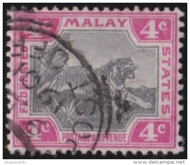 Malaya    .      SG        .   17    .       O       .      Gebruikt   .    /    .   Cancelled - Federated Malay States