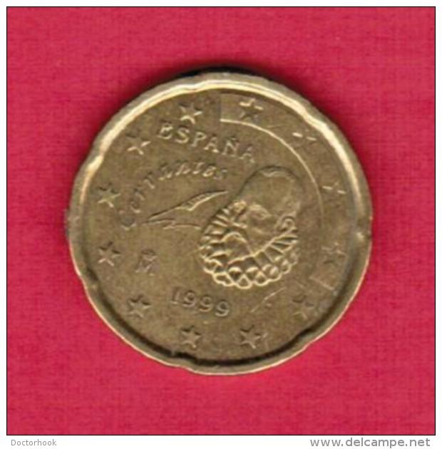 SPAIN  20 EURO CENTS 1999 (KM # 1044) - Spain