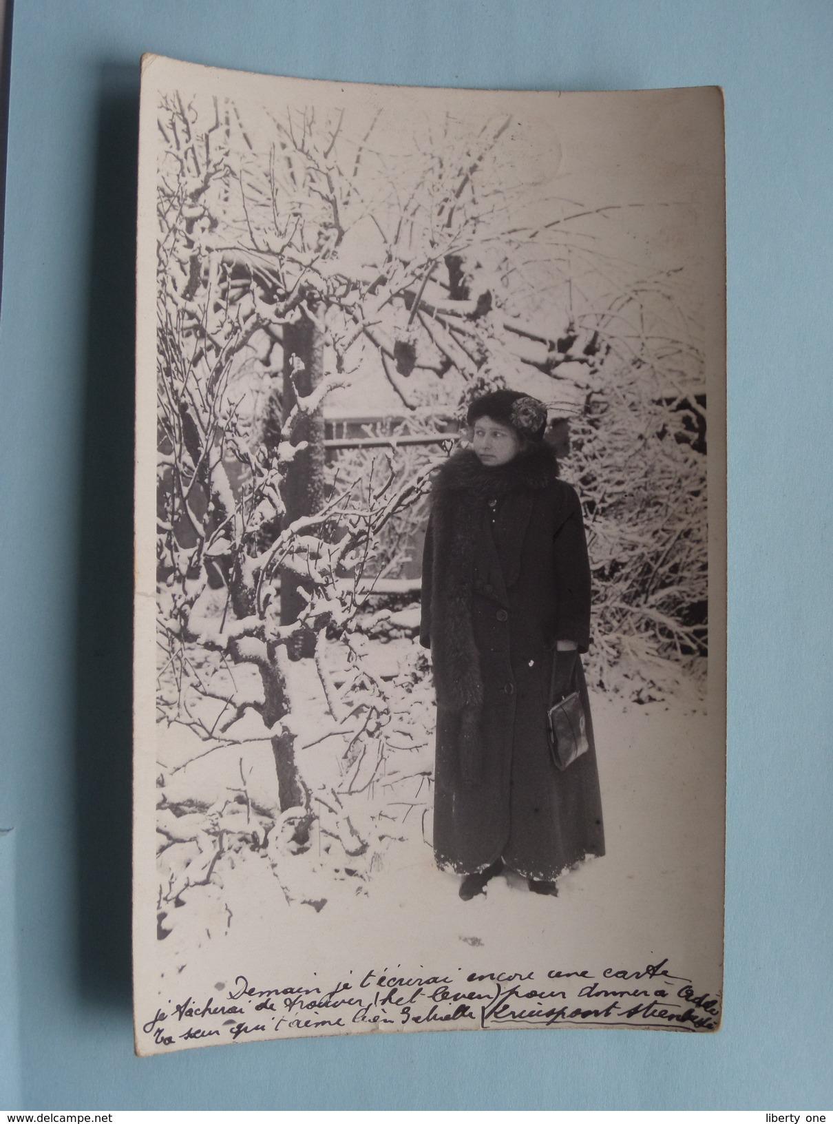 Familiefoto Periode W.O.1 Afstempeling STEENBERGEN Nederland Censuur 1916 Fam. Naegels > Borgerhout Fam. Renkin België ! - Pays-Bas