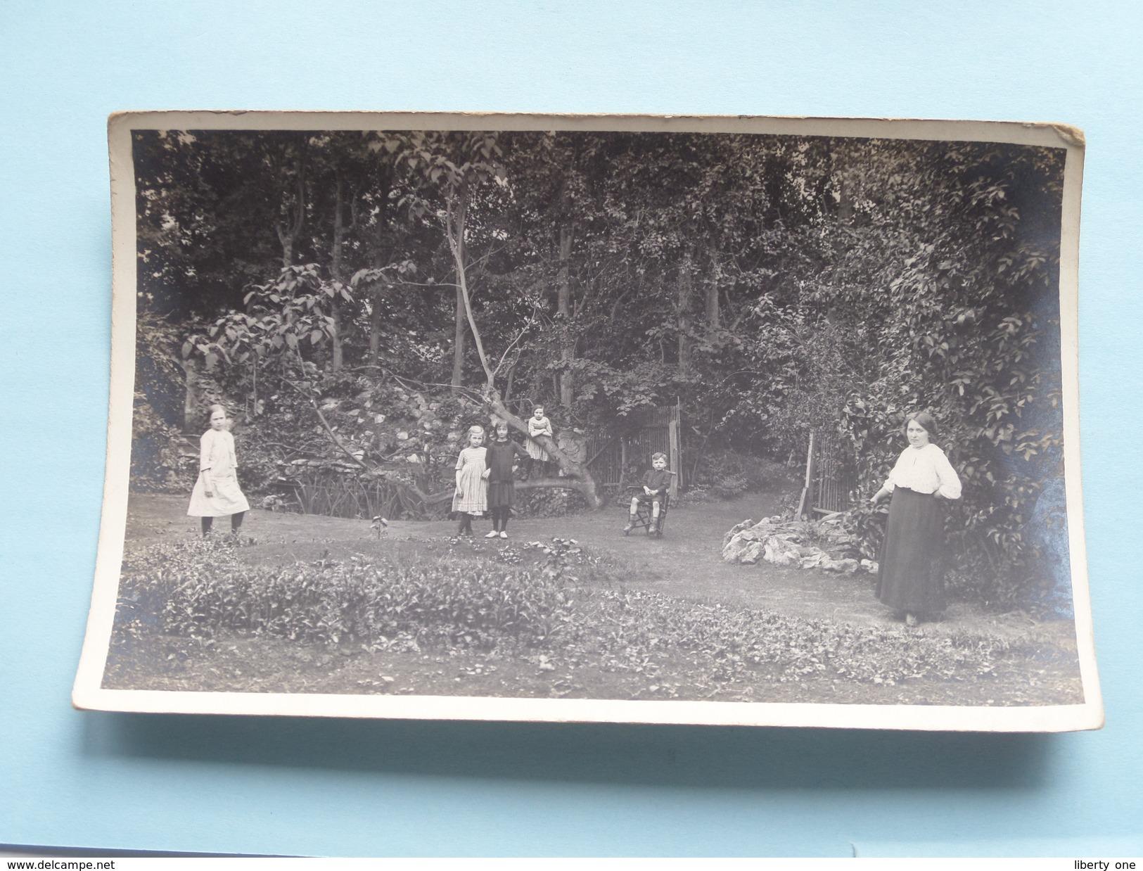 Familiefoto Periode W.O.1 Afstempeling STEENBERGEN Nederland 1917 Fam. Naegels > Fam. Naegels Antwerpen ! - Pays-Bas