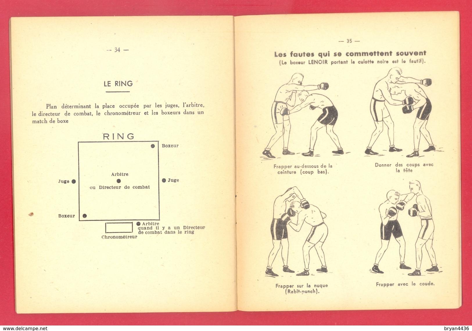 """FASCICULE ANCIEN - 1949 - """"REGLES DE BOXE"""" - REGLES OFFICIELLES FEDERATION NATIONALE DE BOXE - 40 PAGES - (15 X 12 Cm) - Livres"""