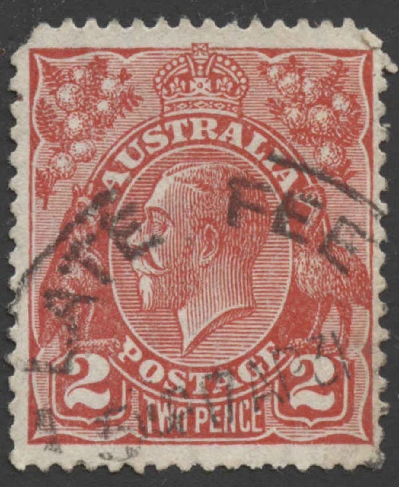 Australia Scott #  71. 2p Red (1930) King George V, Used - Used Stamps