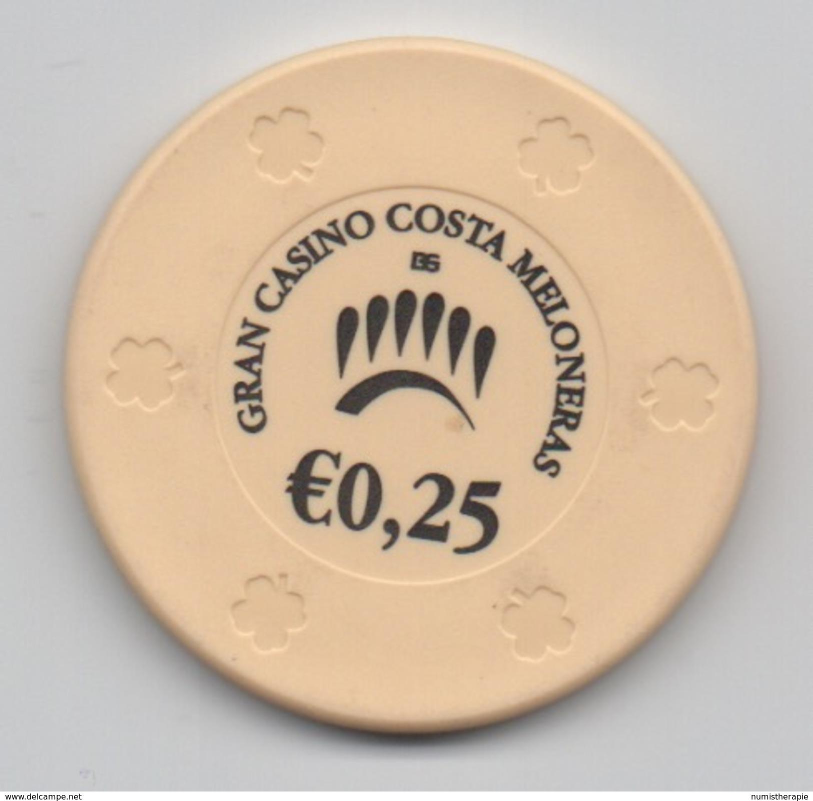 Jeton De Casino : Gran Casino Costa Meloneras €0,25 : Espagne - Casino