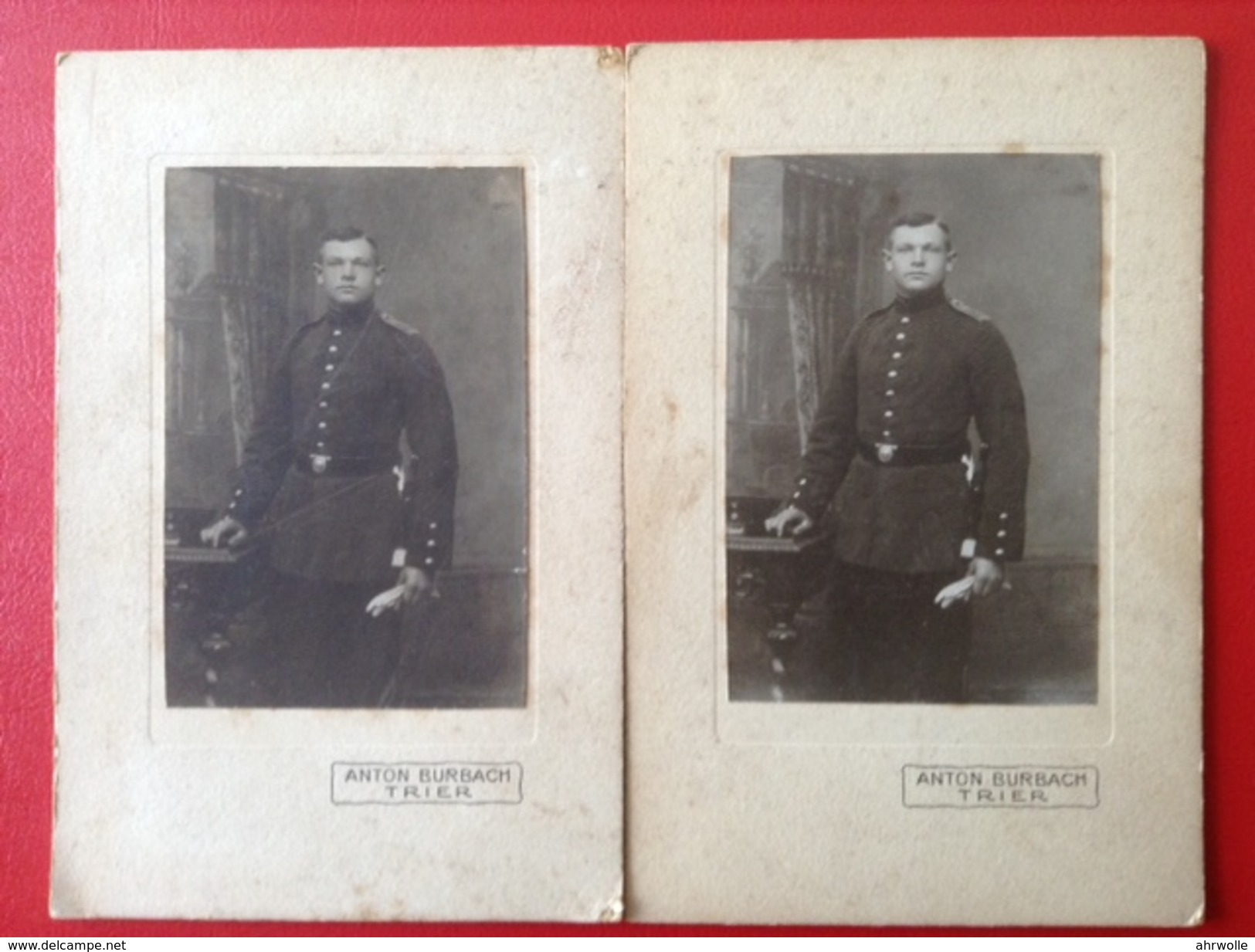 Fotos WW1 Soldat In Uniform Anton Burbach Trier Ca. 1910 - War, Military