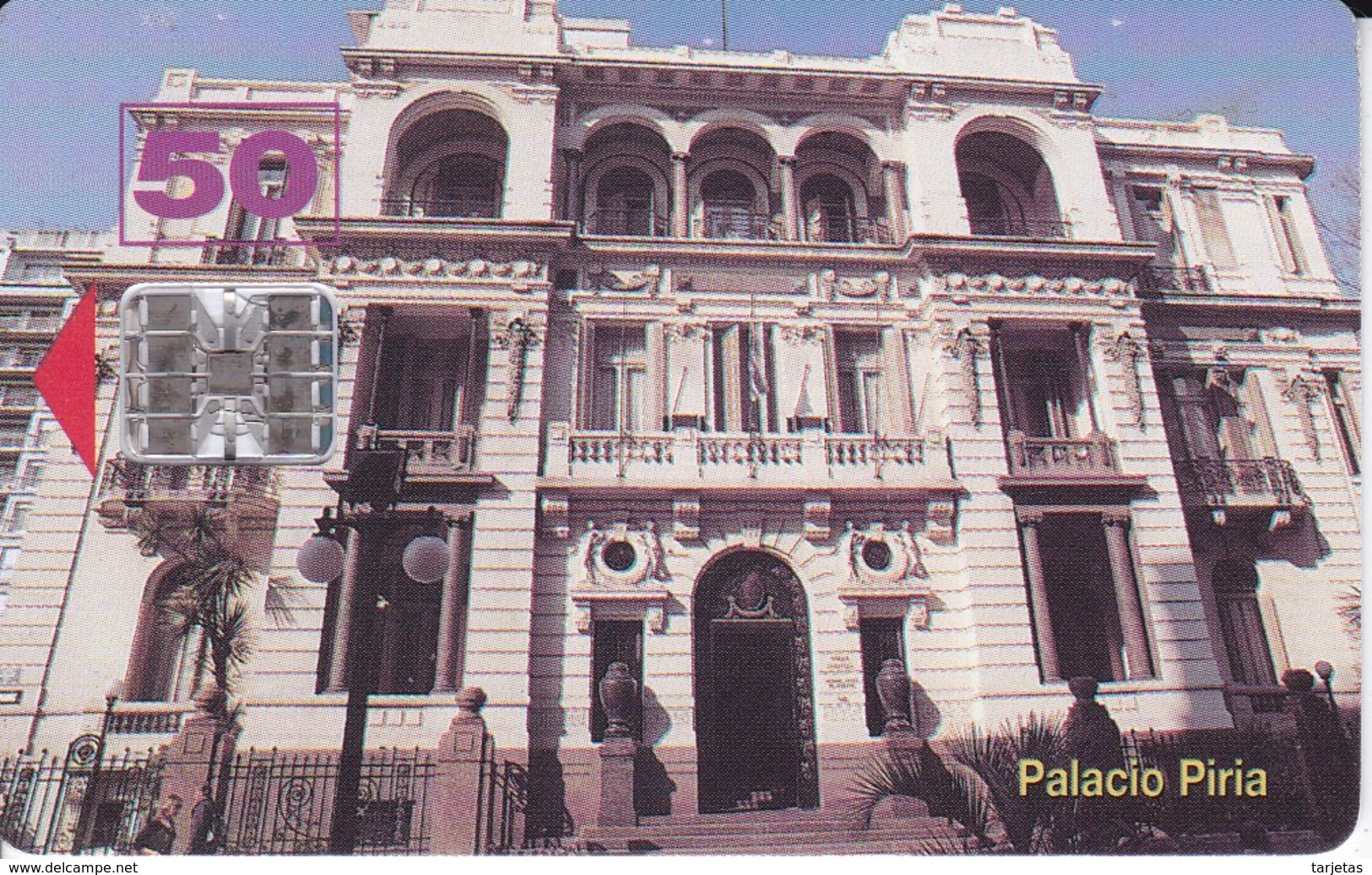Nº 13  TARJETA DE URUGUAY  DEL PALACIO PIRIA - Uruguay