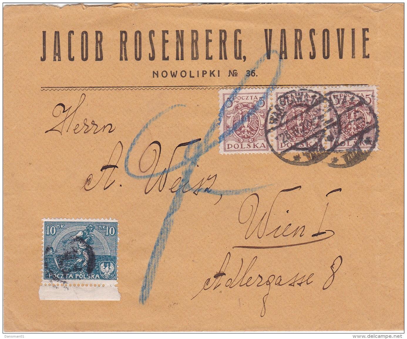 POLAND 1922 Censored Cover - 1919-1939 Republik