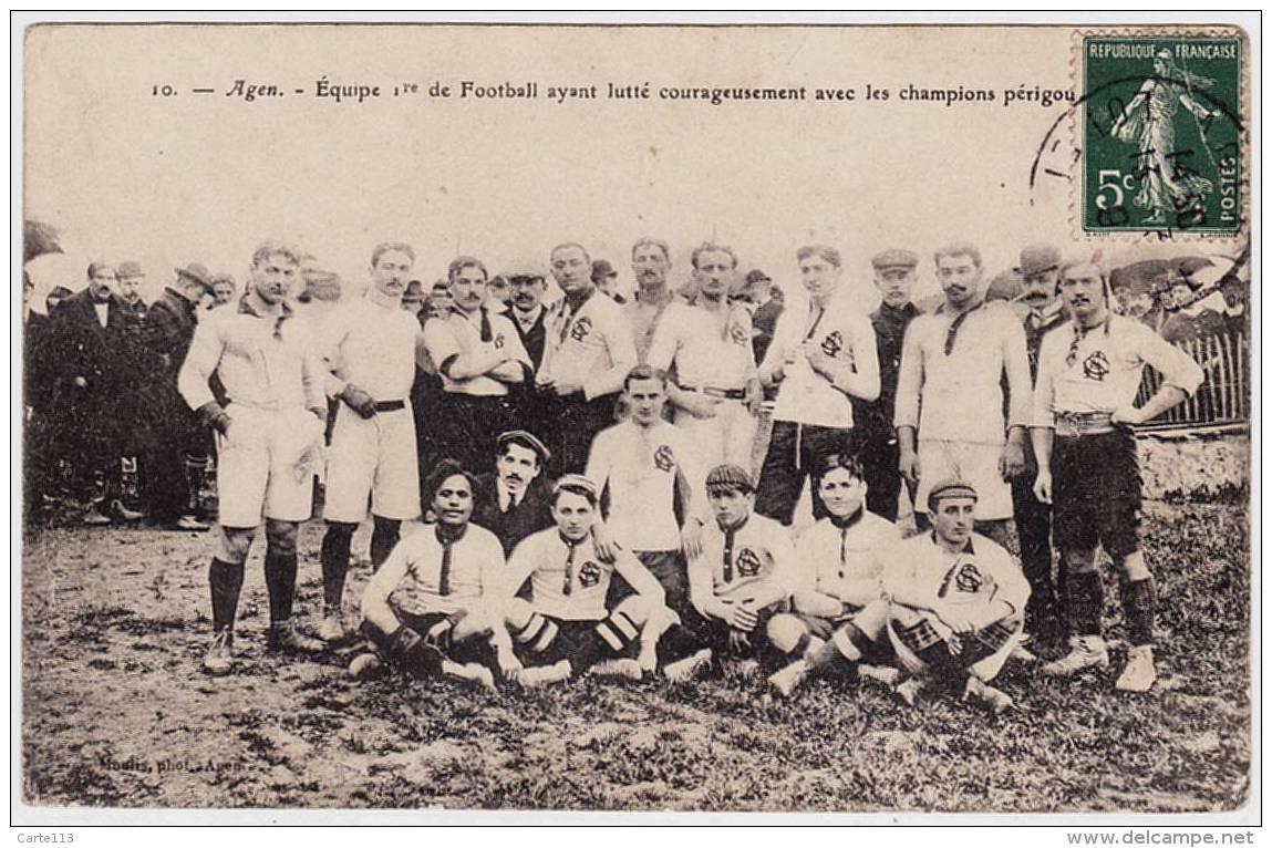 47 - T20570CPA - AGEN - Equipe 1ere De Football 1909 - RUGBY - Très Bon état - LOT-ET-GARONNE - Agen