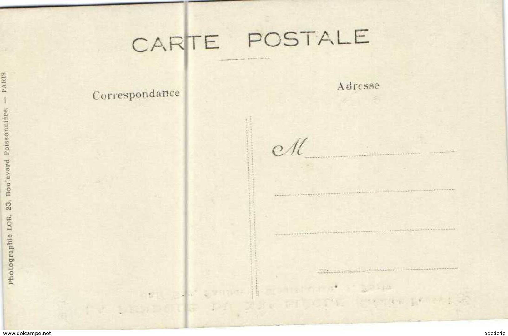 Carte Photo LA PENDULE DU XXe SIECLE  (Creation Bonnet) Café Bar Faubourg Montmartre 1 Paris RV Photo LOR  Bd Poissonniè - Arrondissement: 09
