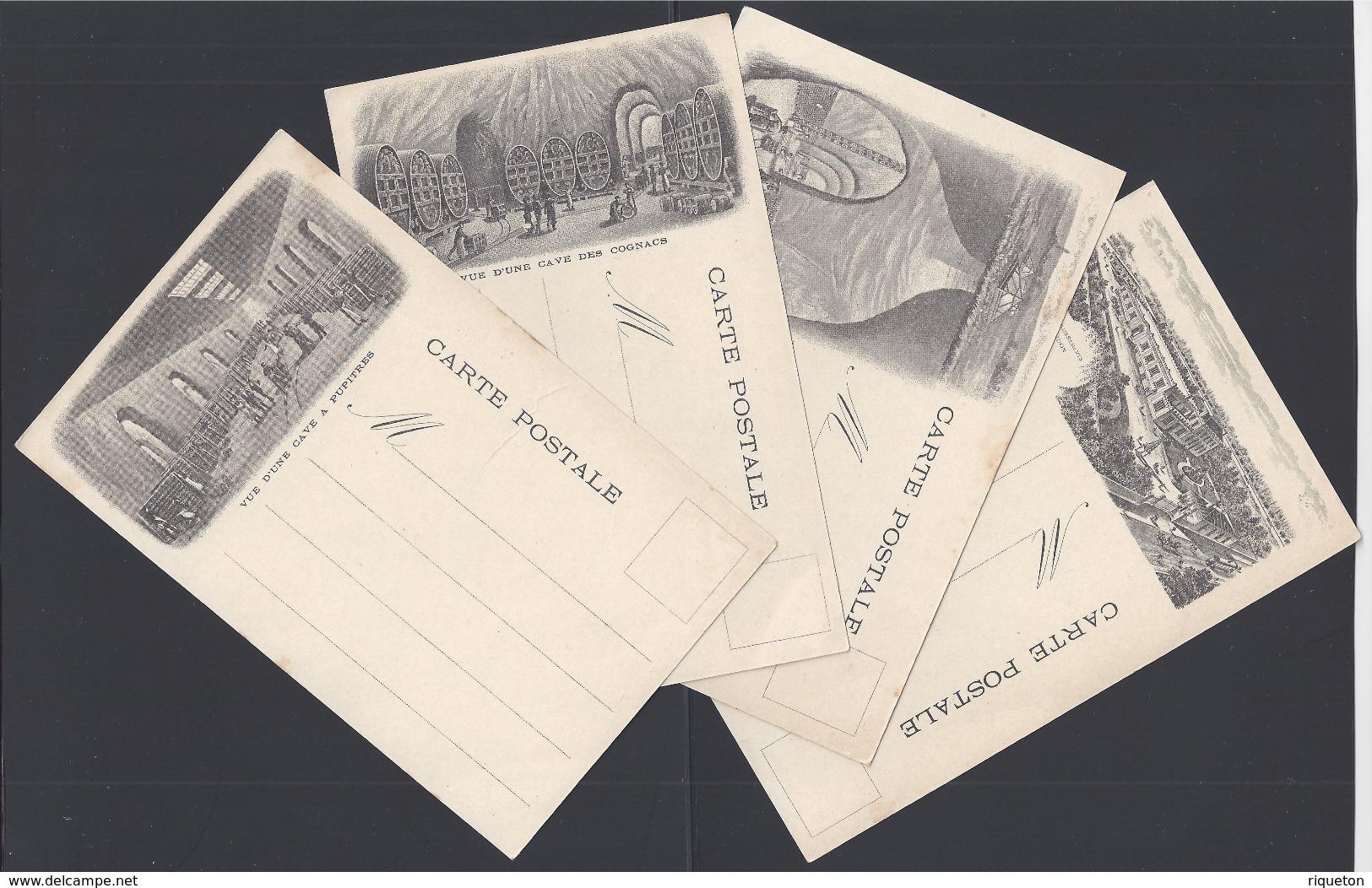 51 - Quatre Cartes Postales Illustrations Différentes - Maison Léon Chandon Champagne Reims -  B/TB - - Reims
