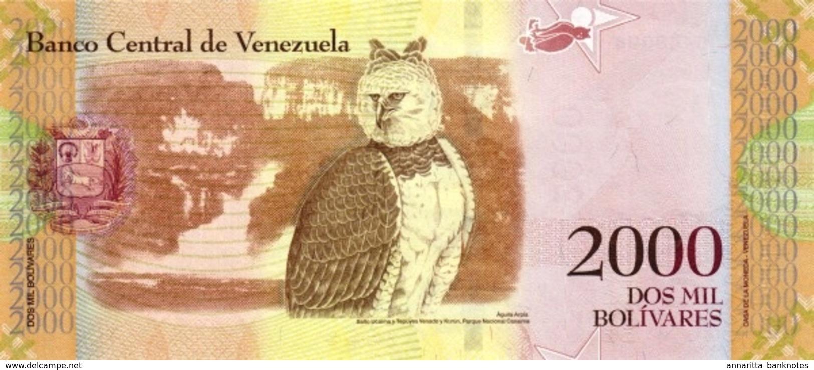 VENEZUELA 2000 BOLIVARES 2016 (2017) P-96a UNC  [VE096a] - Venezuela
