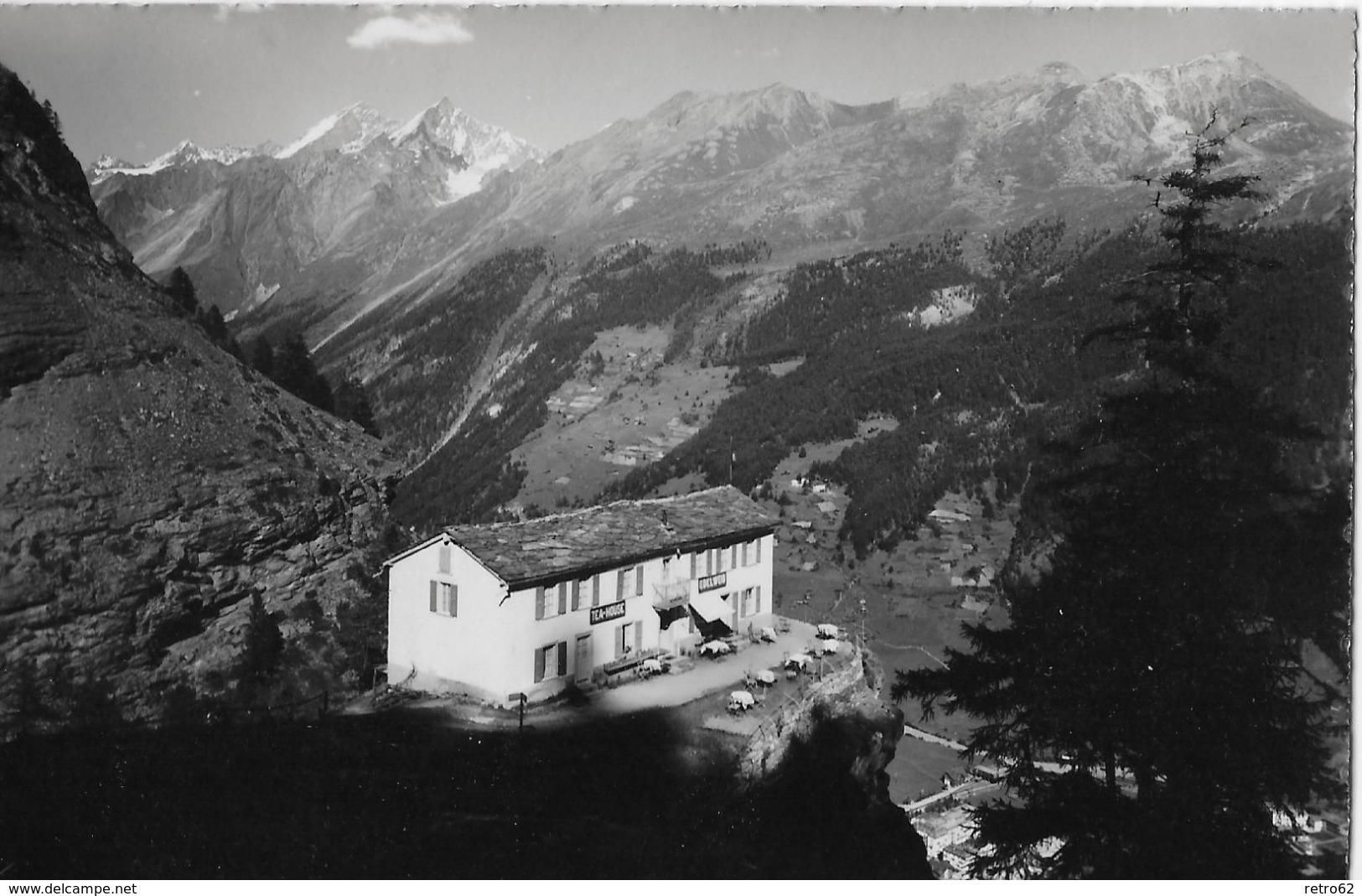 ZERMATT → Restaurant Edelweiss Mit Dom-Täschhorn-Rothorn, Ca.1940 - VS Wallis