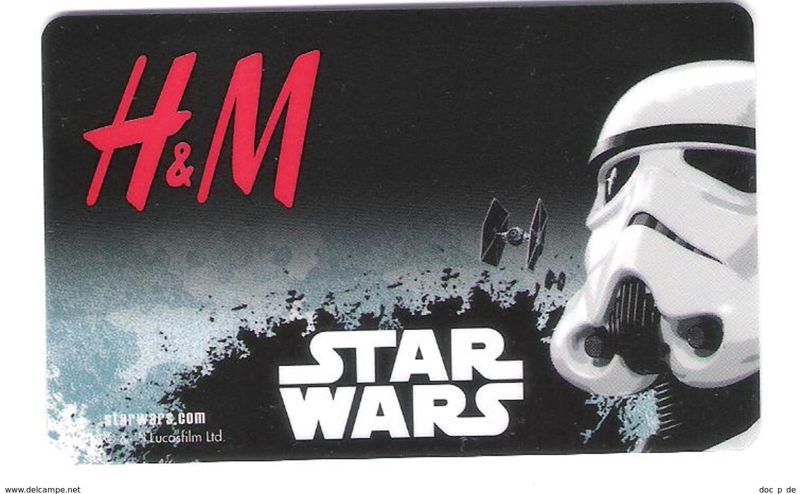 Germany - Allemagne - H&M - Star Wars - Carte Cadeau - Carta Regalo - Gift Card - Geschenkkarte - Gift Cards