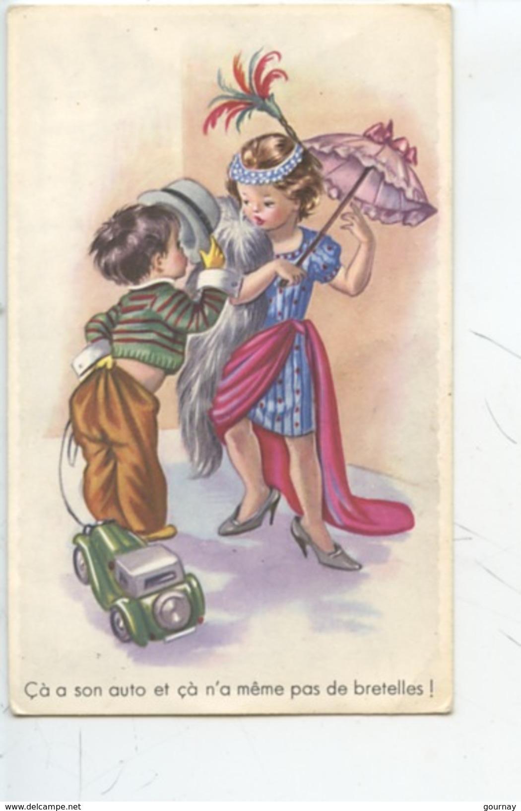 ça A Sont Auto Et ça N'a Même Pas De Bretelles (enfants Déguisement Ombrelle Parapluie) Série  N°5070 - Humour