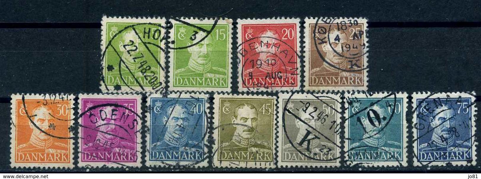 Danemark YT 282-290A Oblitéré - 1913-47 (Christian X)