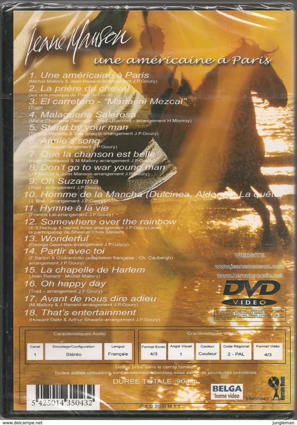 DVD Jeane Manson - Une Américaine à Paris - 30 Ans De Chansons - Musik-DVD's