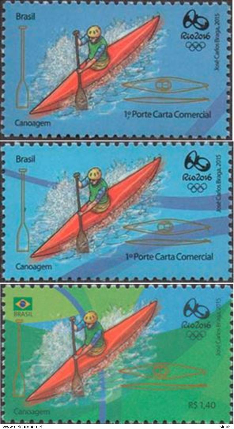BRAZIL 2015 Olimpic Sport Games Rio 2016 Canoeing Canoagem - Unused Stamps
