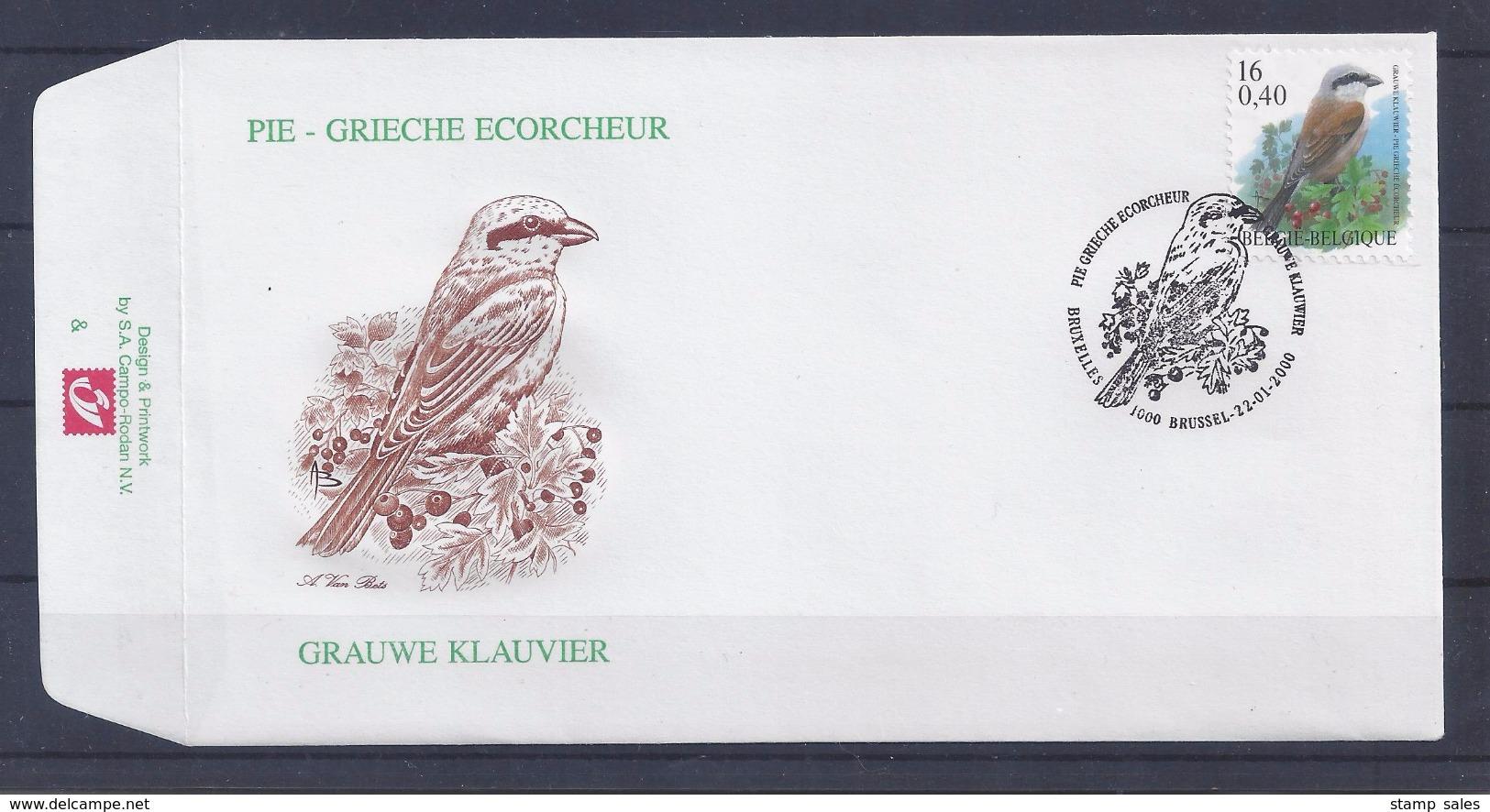 N°2885FDC GESTEMPELD Bruxelles - Brussel COB € 5,50 SUPERBE - 1991-00