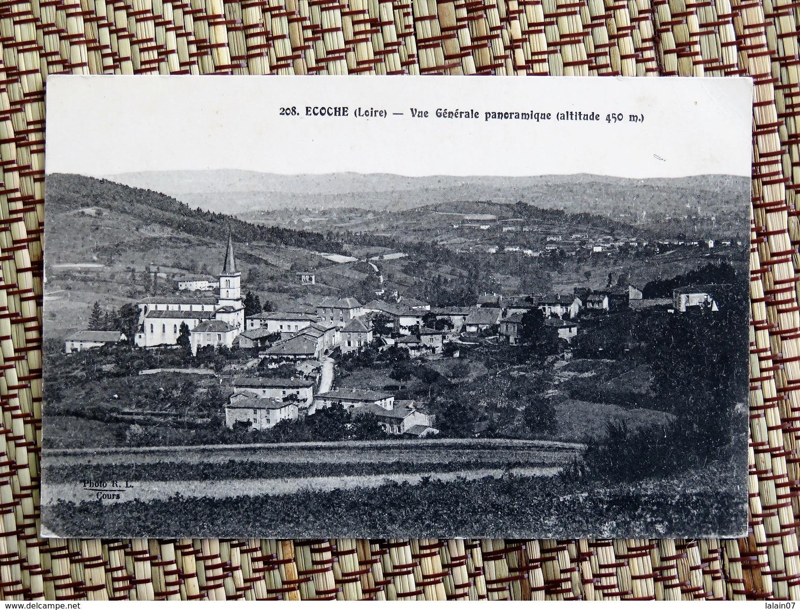 C.P.A. 42 ECOCHE (Loire) : Vue Générale Et Panoramique, En 1918 - France