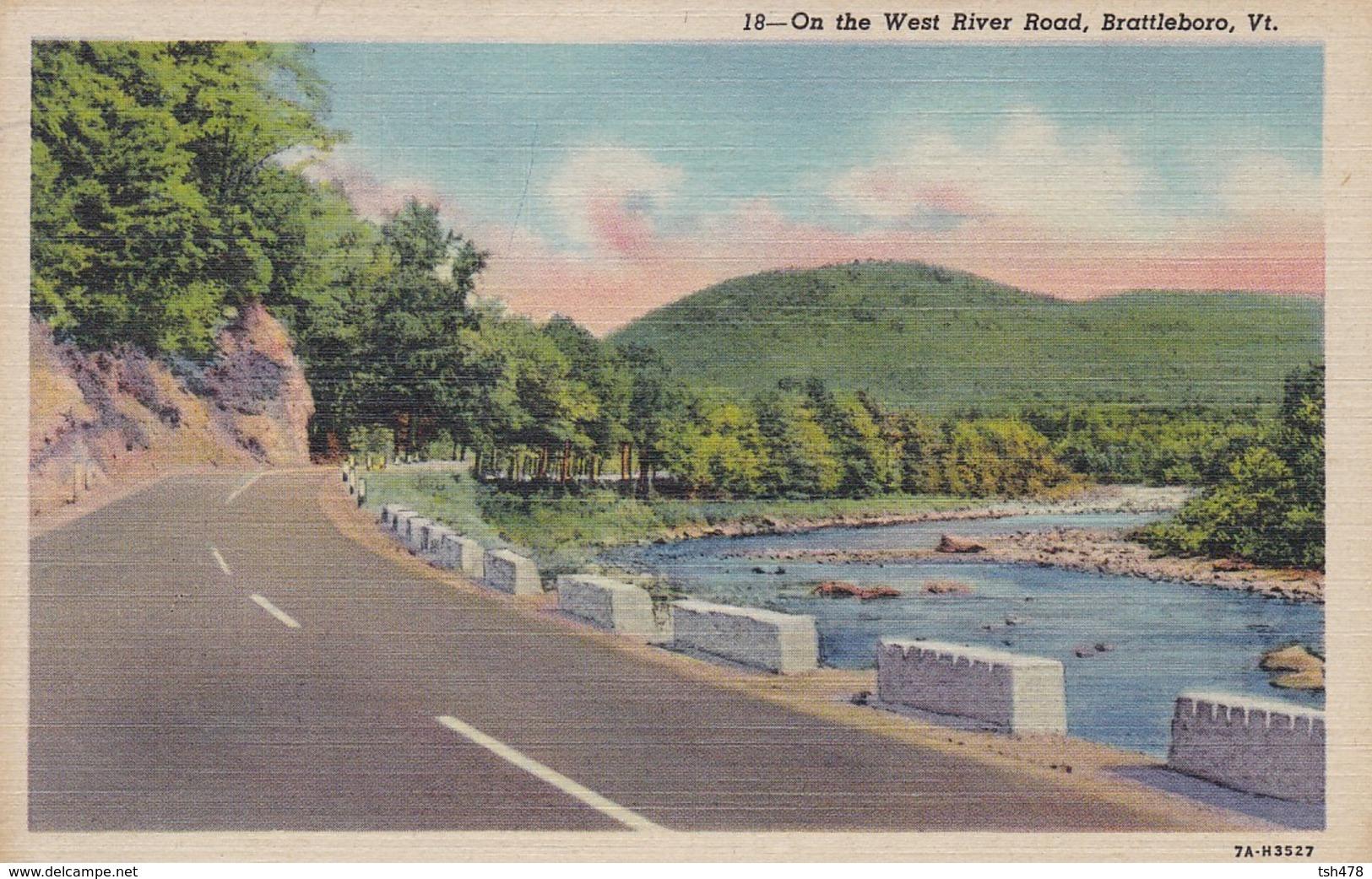 ETATS-UNIS--RARE---BRATTLEBORO--on The West River Road,brattleboro  VT.--voir 2 Scans - United States