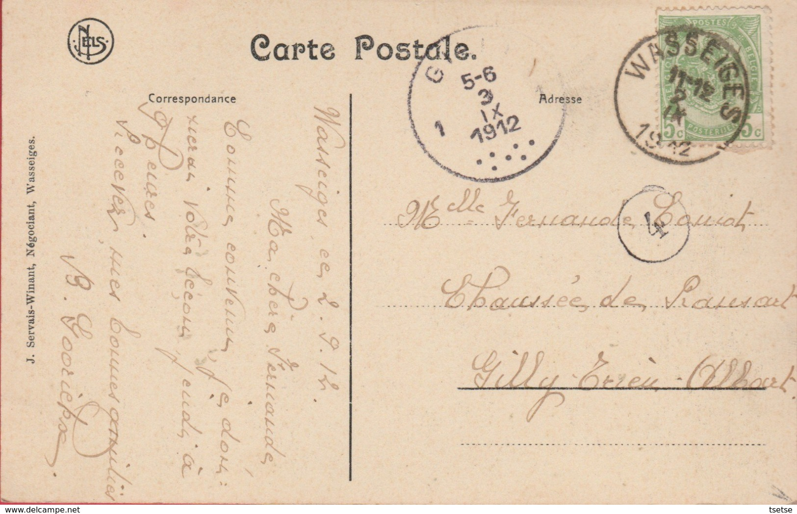 Wasseiges - Le Moulin - 1912 ( Voir Verso ) - Wasseiges