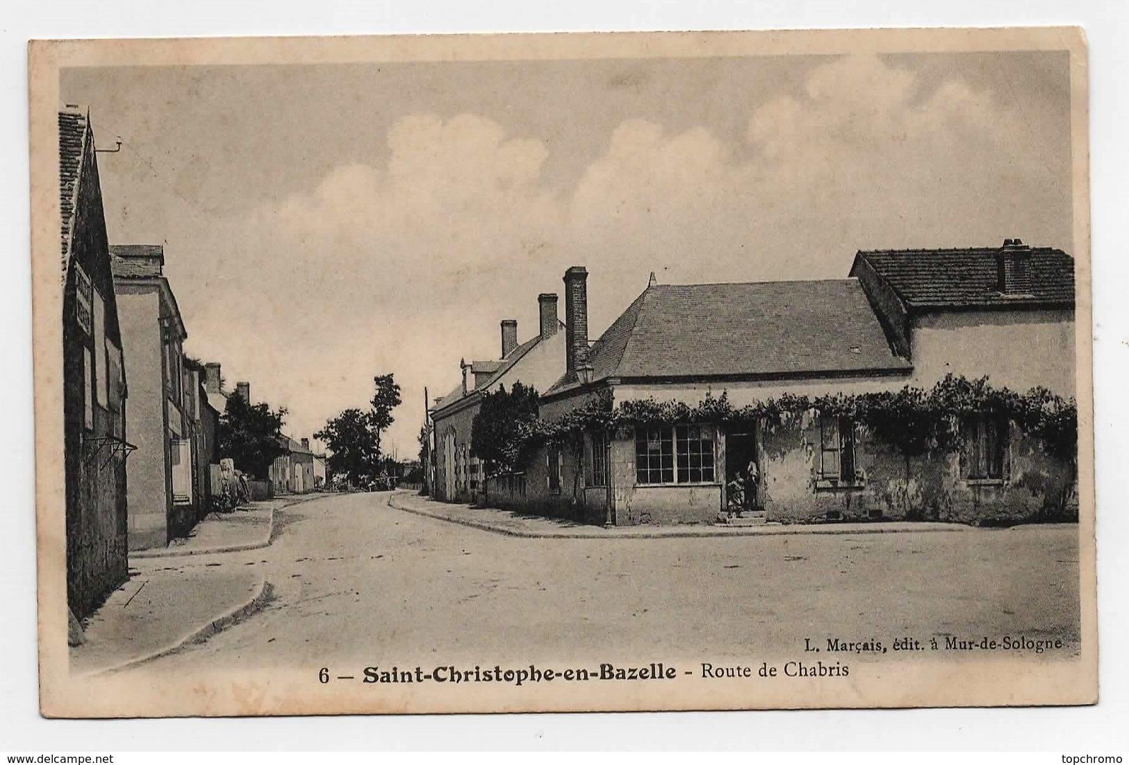 Carte Postale Saint Christophe En Bazelle Route De Chabris CPA 1906 - Autres Communes