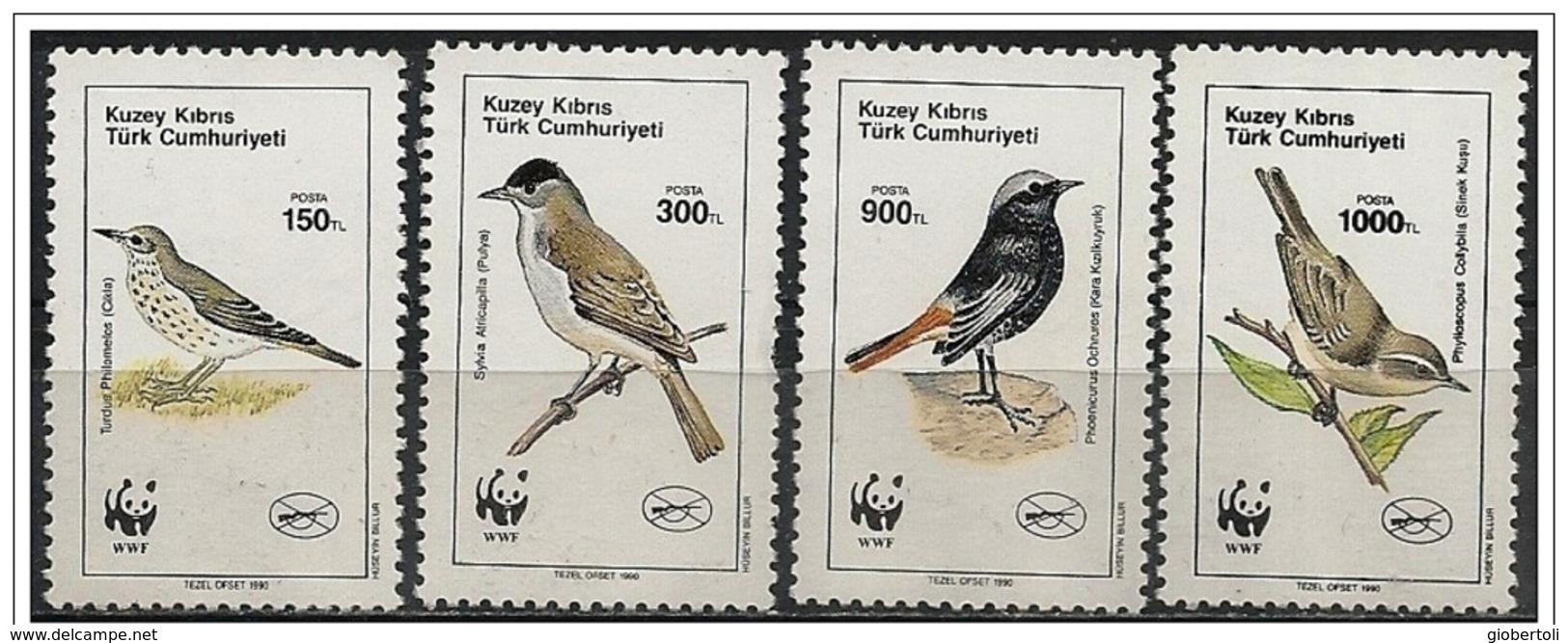 Cipro Turca/Chypre Turc/Turkish Cyprus: Uccelli Diversi, Different Birds, Différents Oiseaux, W.W.F. - Unused Stamps