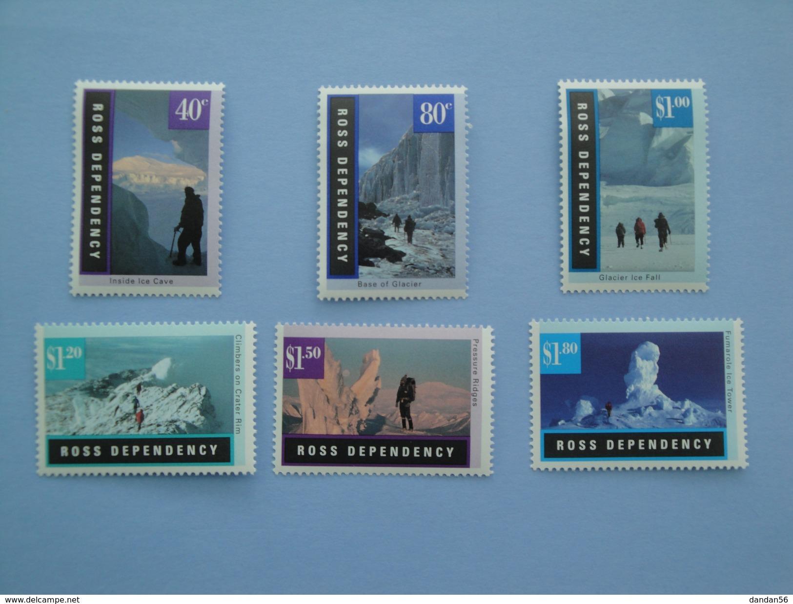 1996 Ross  Nouvelle Zélande - Yvert 44/9 ** Glaciers Paysages  Scott L 37/42  Michel  38/43  SG 38/43 - Neufs