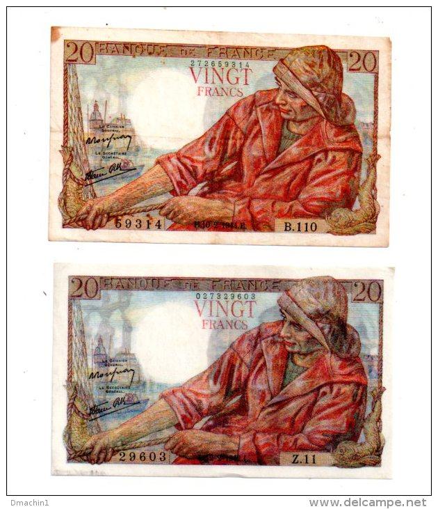 2 Billets De 20 Francs - Voir Etat - Billets