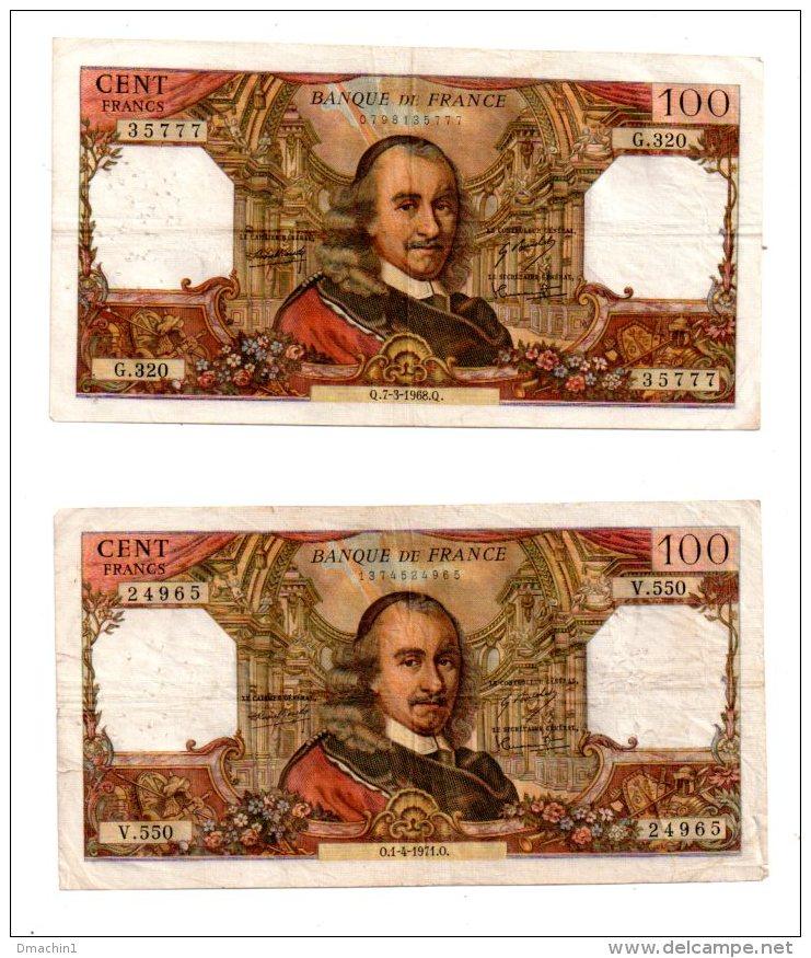 2 Billets De 100 Francs - Voir Etat - Billets