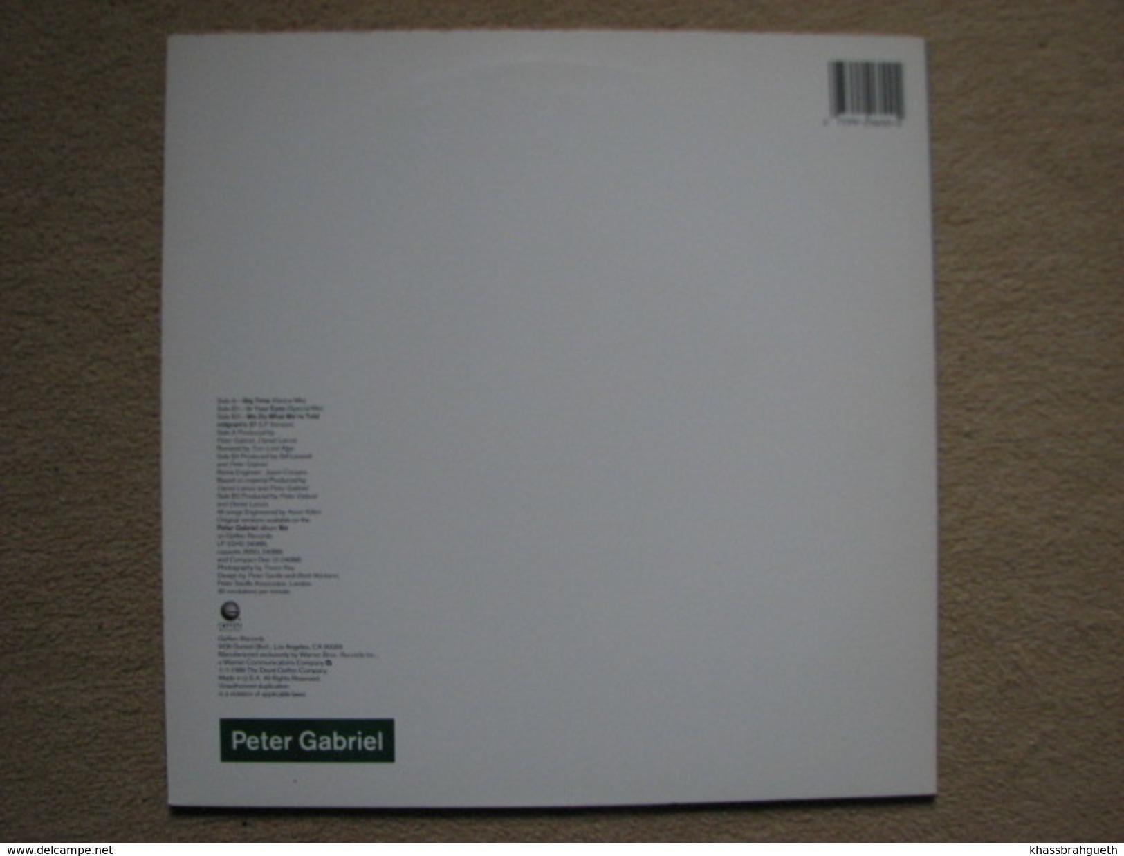 PETER GABRIEL - BIG TIME - MAXI (GREFFEN RECORDS 1986) - 45 T - Maxi-Single