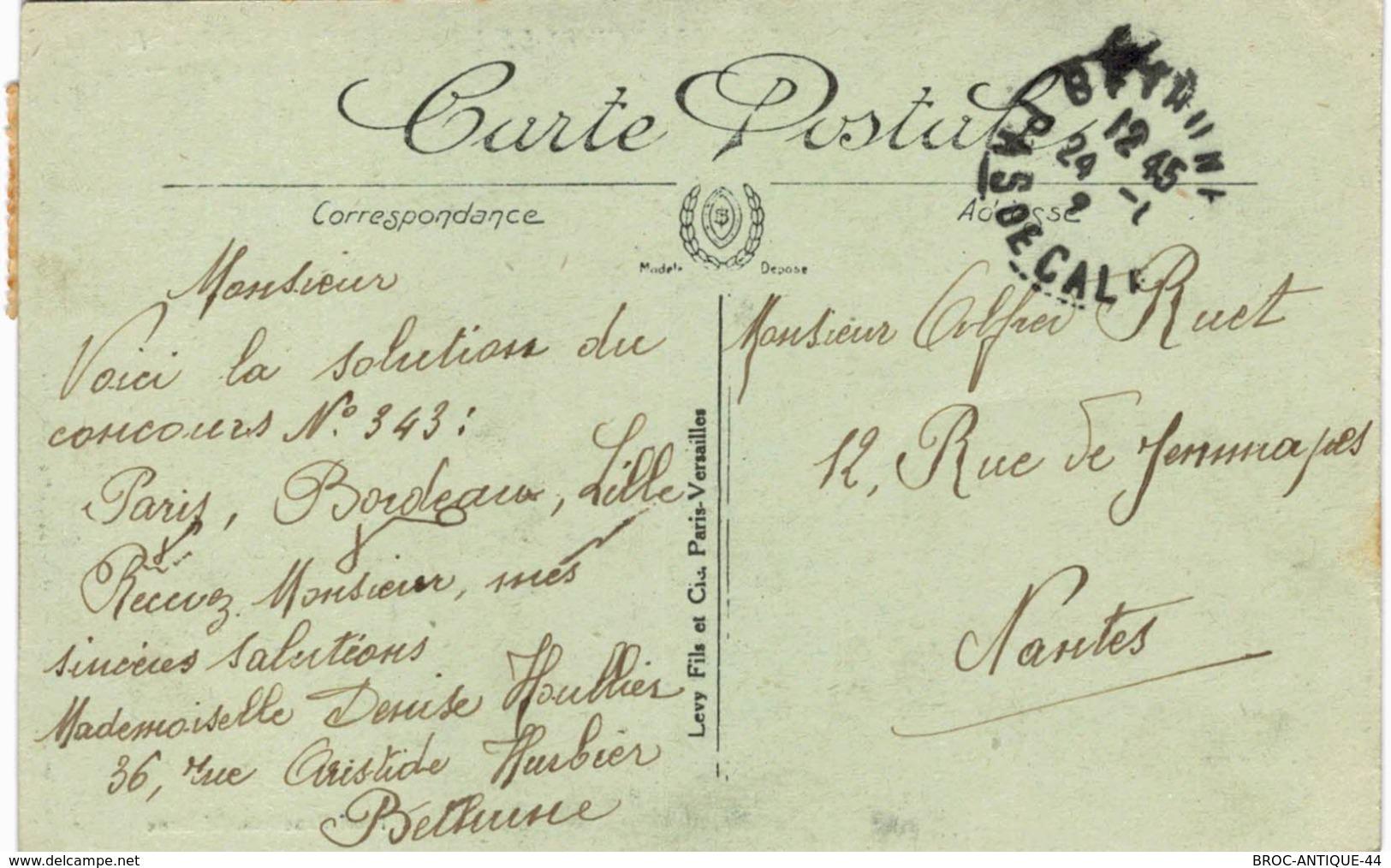 CPA N°3 - LES RUINES DE LA GRANDE GUERRE - BETHUNE - LA CAISSE D' EPARGNE - MILITARIA - Bethune
