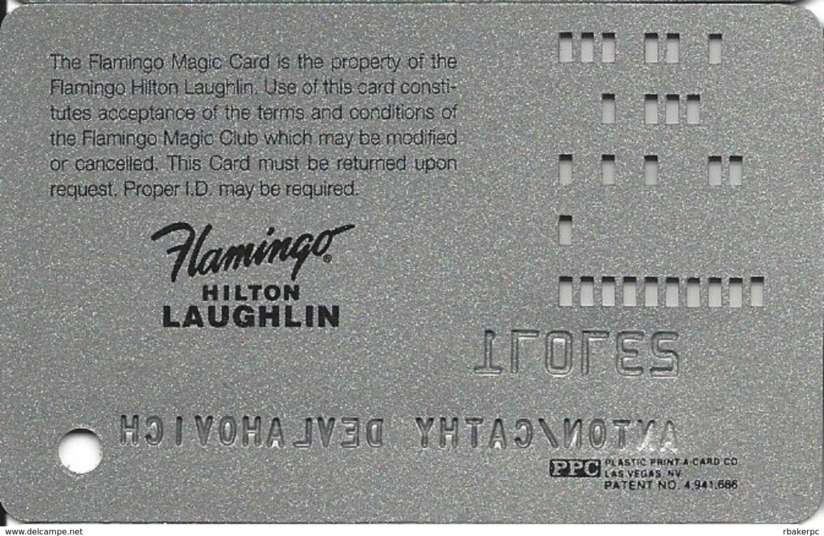 Flamingo Casino Laughlin NV - Slot Card - PPC Logo Bottom Right Corner - Casino Cards