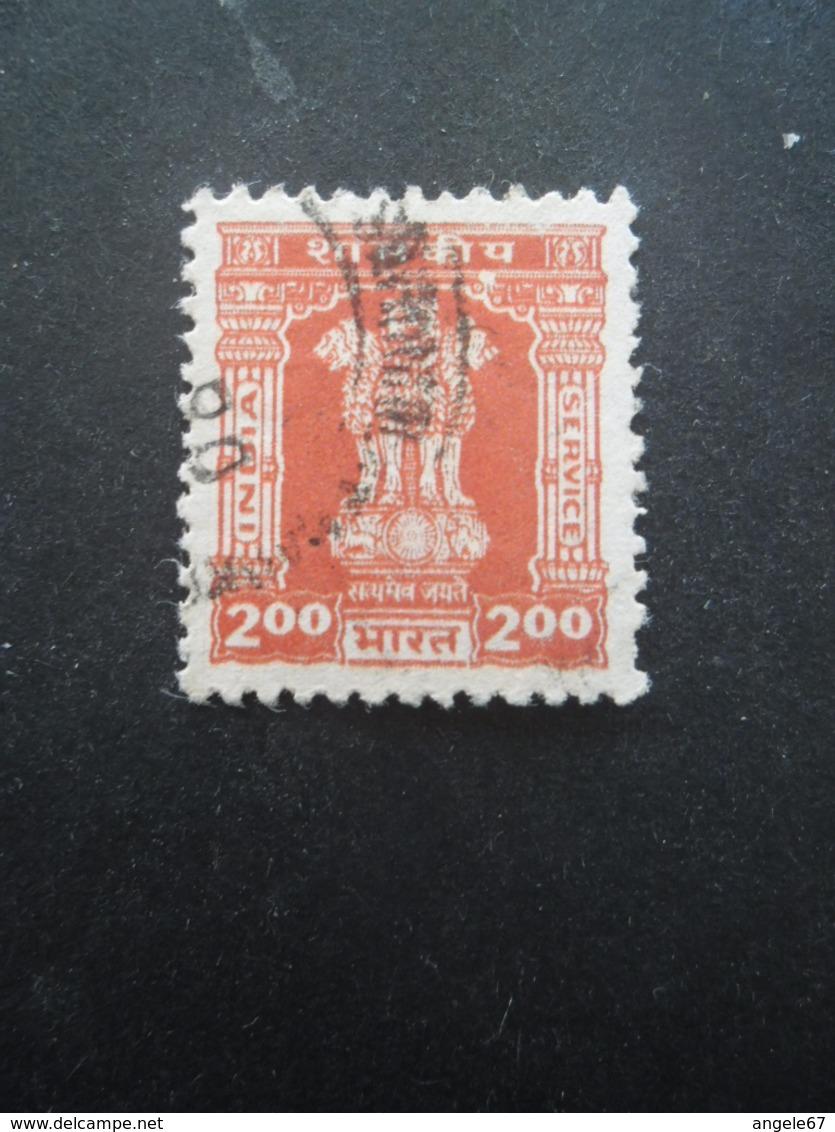 INDE Service N°102 Filigrane A Dentelé 13 Oblitéré - Dienstzegels