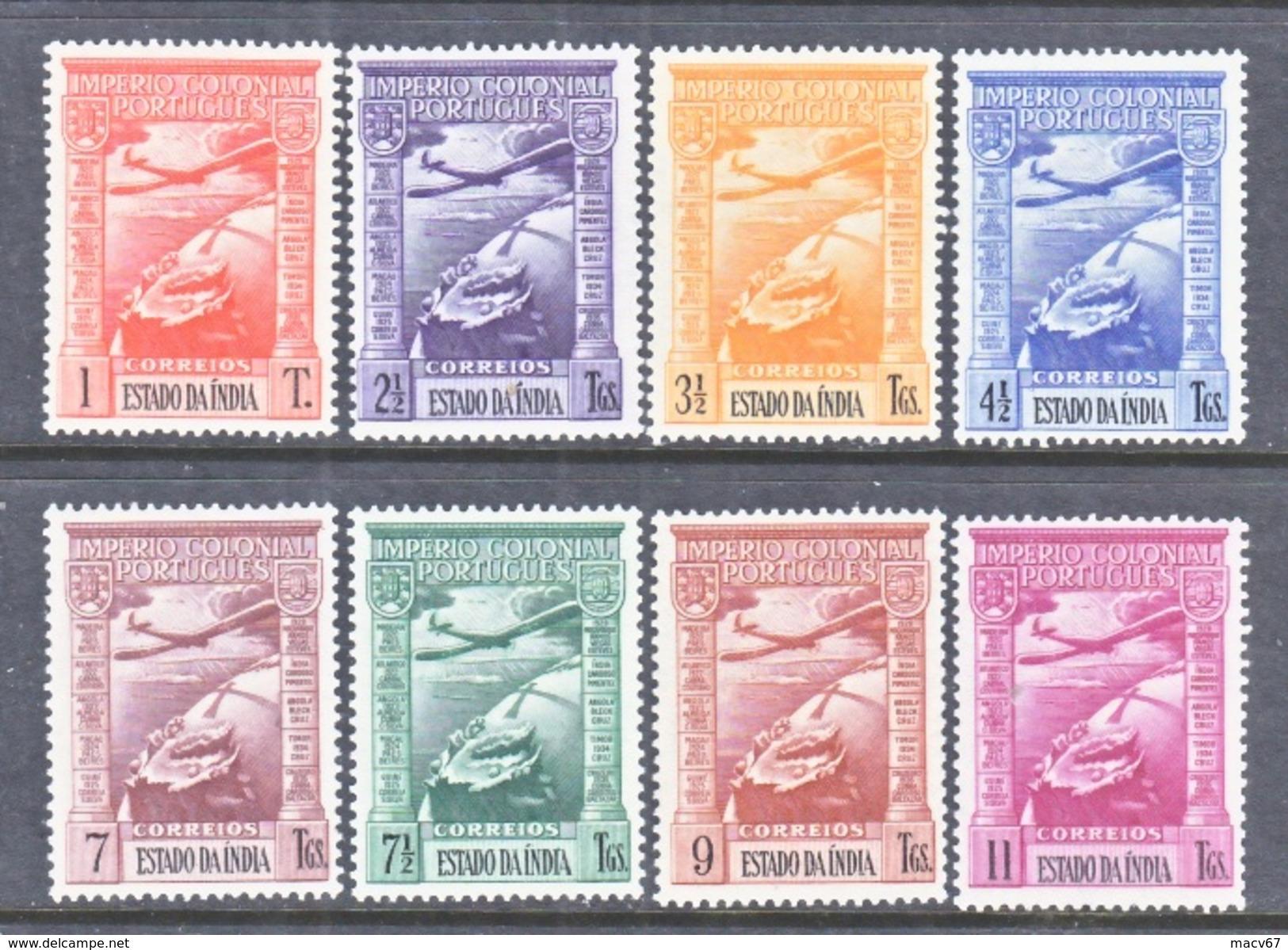 PORTUGUESE  INDIA  C 1-8  * - Portuguese India
