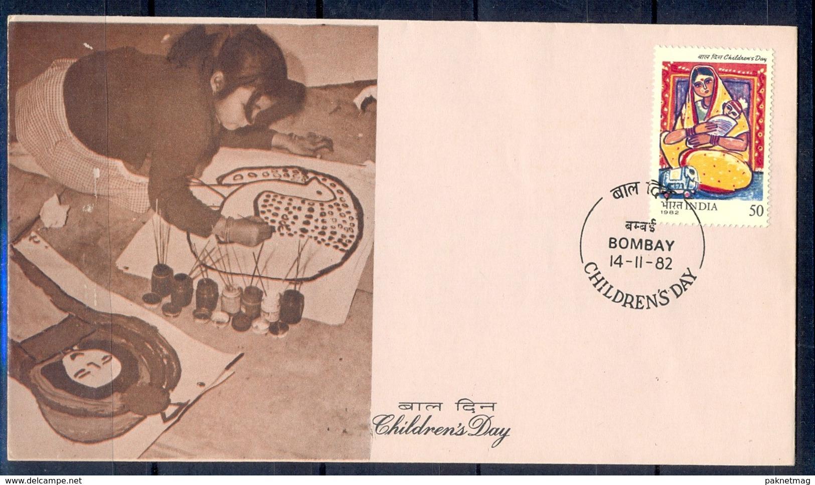 J294- India 1982. Children's Day. Painting. - India