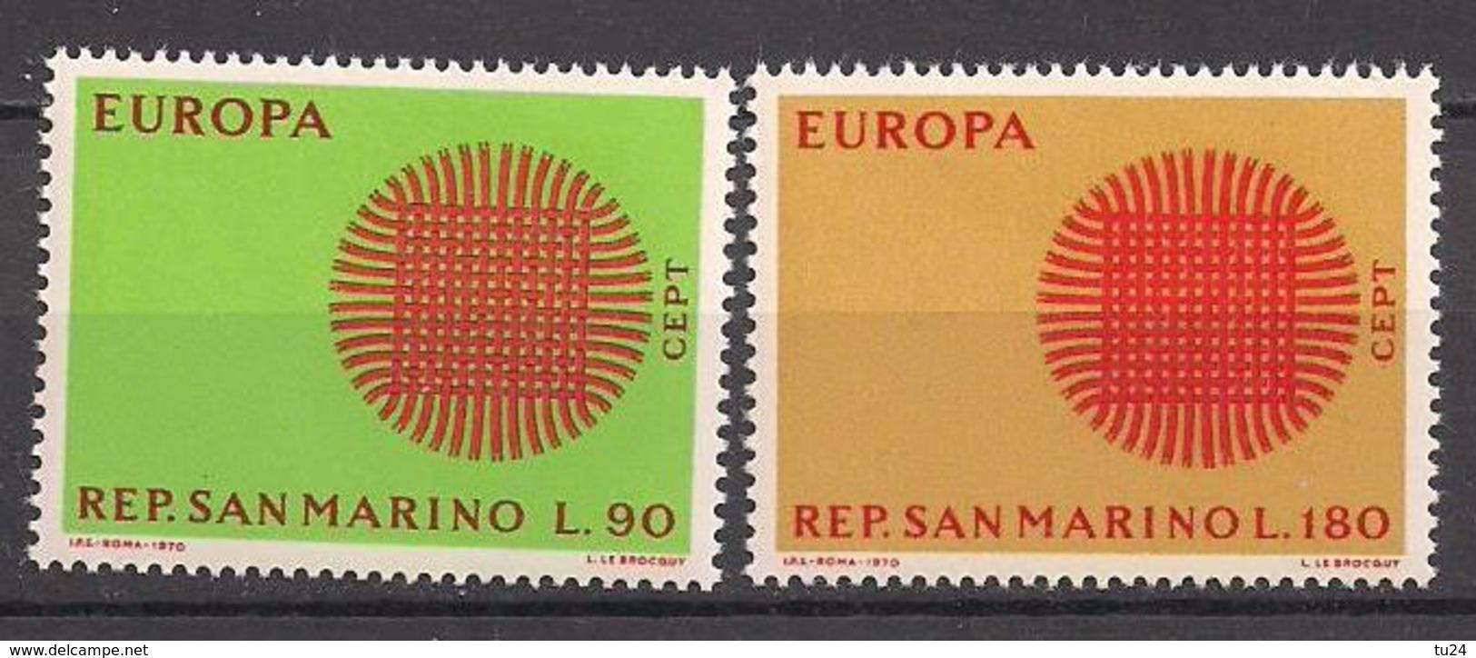 San Marino  (1970)  Mi.Nr.  955 + 956  ** / Mnh  (16fg02)  EUROPA - San Marino