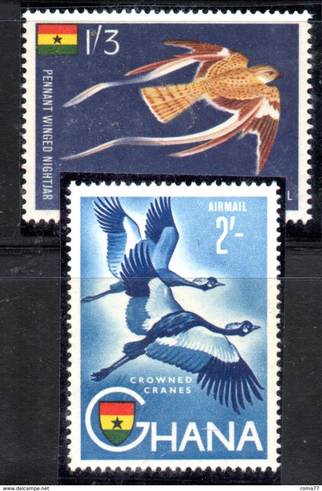 W306 - GHANA 1959 , Posta Aerea Serie Yvert N. 5/6 ***  Ordinaria - Ghana (1957-...)
