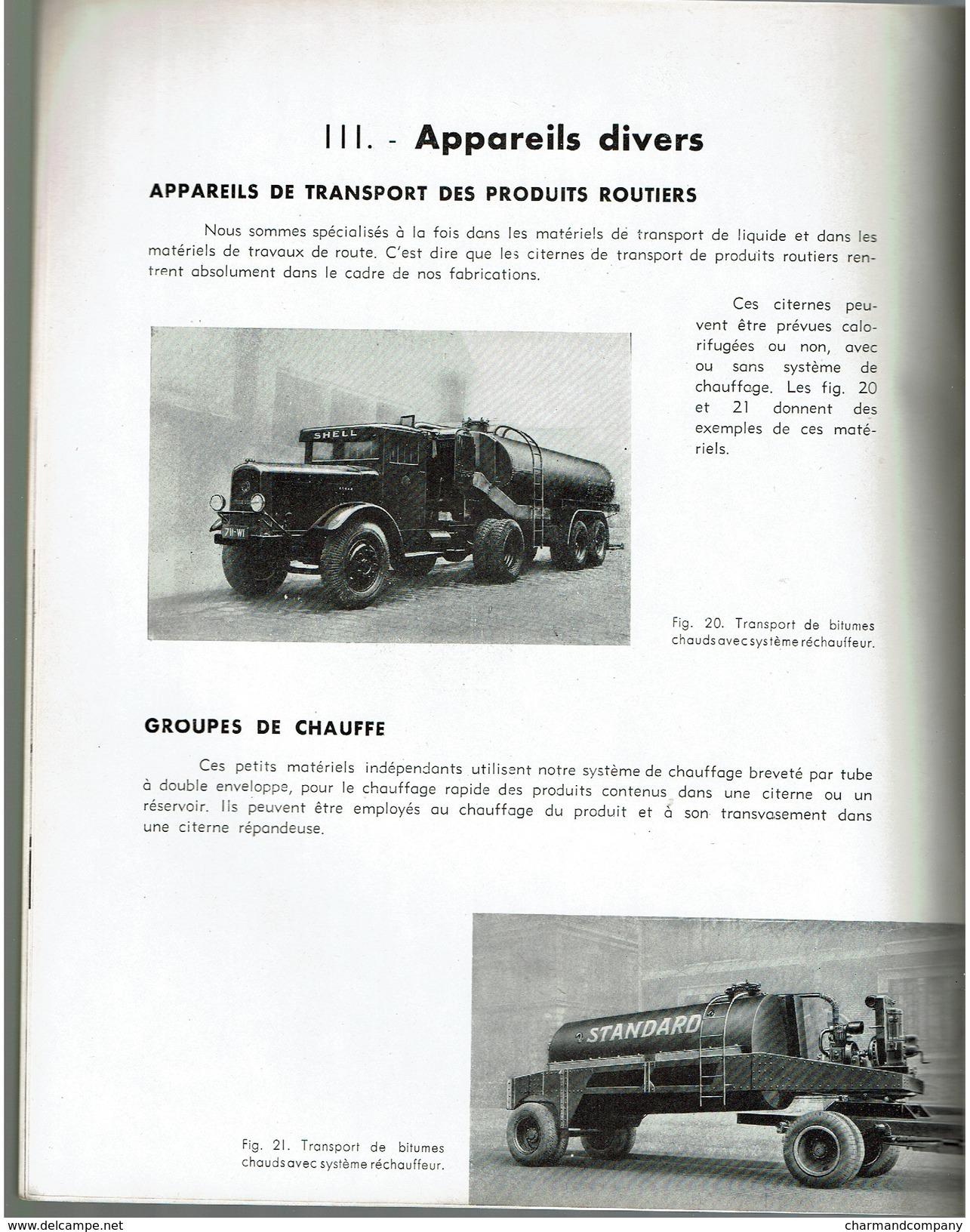 1939, Catalogue SPIROS De Matériels Pour Construction Et Entretien Des Routes - Superbes Camions - 24 Pages - 2 Scans - Camions