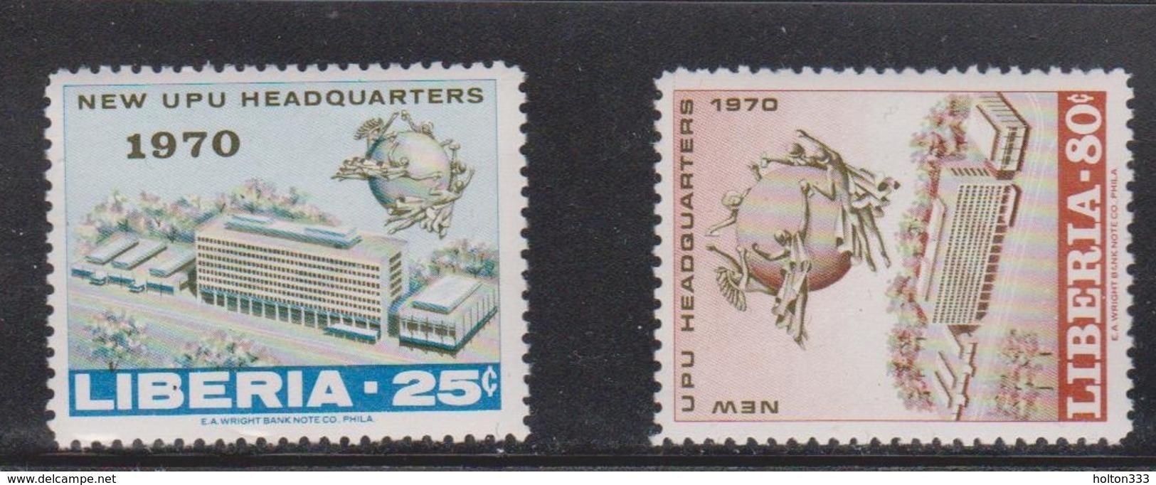 LIBERIA Scott # 523-4 Mint Hinged - New UPU Headquarters - Liberia