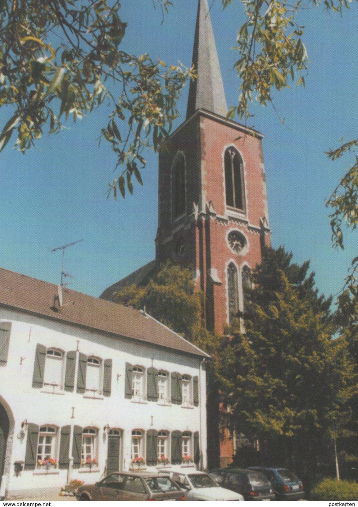 ÄLTERE POSTKARTE BAUDENKMAL IN BARDENBERG MIT PFARRKIRCHE ST. PETER UND PAUL SPD WÜRSELEN PARTEI Cpa AK Postcard - Würselen