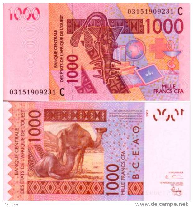West Africa States - Burkina Faso 1000 FRANCS (2003) Pick 315Ca NEUF-UNC - Burkina Faso
